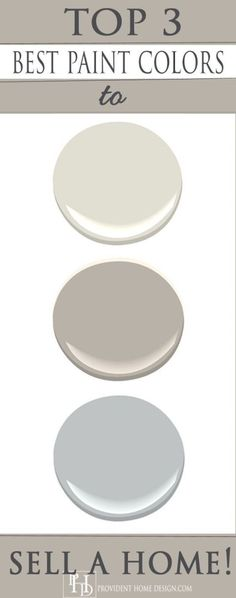 Home Staging Tips and Ideas - Improve the Value of Your Home Need help with wall colors? Take a look at these top 3 paint colors from a home expert plus Home Staging Tips and Ideas – Improve the Value of Your Home on Frugal Coupon Living. Top Paint Colors, Interior Paint Colors, Paint Colors For Home, Paint Colors For Office, Gray Wall Colors, Lowes Paint Colors, Basement Paint Colors, Modern Paint Colors, Colour Gray