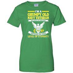 Mens Men's I'm A Grumpy Old Navy Veteran T-Shirt