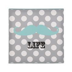 Toile imprimée carrée gris/bleu Gris/Bleu - Life - Les toiles décoratives - Affiches et déco murale - Toute la déco - Décoration d'intérieur - Alinéa