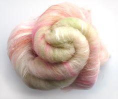 Art Batt -  Hand Dyed Alpaca - Baby Camel Merino - Milk Protein - by nunoco on Etsy.