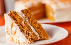 Homemade carrot cake dessert on white plate :)