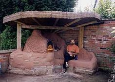 Ollie the oven, cob oven and bench, Marton Cheshire