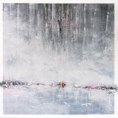 Temps-d'arret, 20x20pc acrylique sur panneau de bois 2017 - Abstract Haguier.com Abstract Landscape, Niagara Falls, Les Oeuvres, Painting, Nature, Travel, Landscape Planner, Paint, Voyage