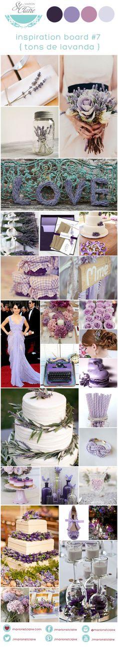 Inspiration Board Lavender | Casamento tons de lavanda | Casamento em tons de roxo | Decoração de Casamento Roxo | Blog de Casamento Marion Saint Claire | http://marionstclaire.com