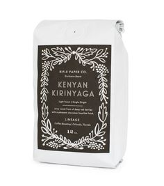 For the Foodie | Kenyan Kirinyaga Coffee by Lineage Coffe Roasting x Rifle Paper Co.