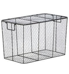Lidded Wire Basket   Rejuvenation