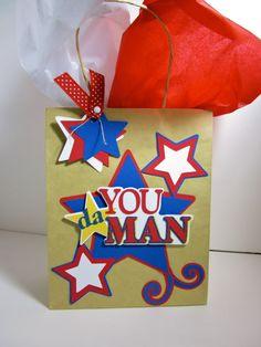 You Da Man Cricut Phrases Father's Day Gift Bag
