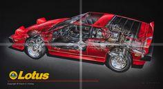Lotus Esprit Cutaway
