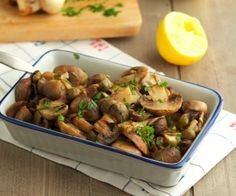 Easy Garlic Butter Roasted Mushrooms - The quickest and most obsessively delicious way to prepare mushrooms!