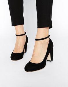 Fashionable Black Shoes With Low Heels At The Bay