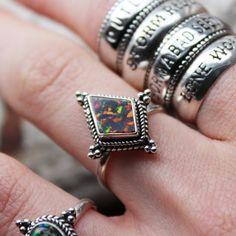 Medea Black Opal Ring