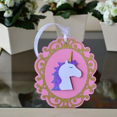 Unicorn Gift Tag designed by @Bird's SVGs