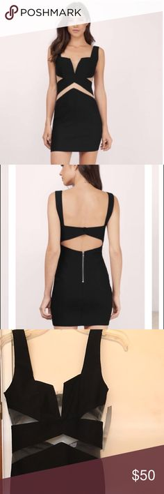 NEW mesh cut out mini dress by Tobi size small Brand new, never worn and still with tags. Adorable and unique mesh cut out little black dress with zipper in the back. Women's small Tobi Dresses Mini