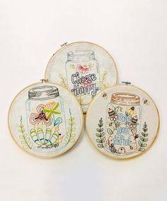 Another great find on Flower Garden Three-Piece Stitch Set Sewing Art, Sewing Crafts, Embroidery Patterns, Embroidery Hoops, Needlework, Third, Crafty, Stitch, Garden