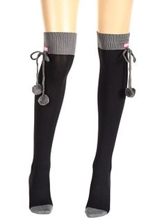Hunter Pom Pom Over the Knee Sock  just in case it's chilly for Mountain Jam!