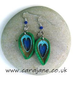 Cara Jane: Peacock Cane Earrings