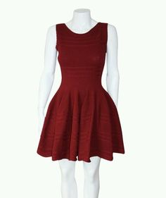 cefe9606b67 Alaia style Brocade textured Red burgundy Sleeveless knit dress sz Medium  NWT  ebay  Cocktail