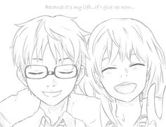 Your Lie In April, Pencil Art Drawings, Art Sketches, Naruto Drawings, Anime Backgrounds Wallpapers, Manga Pages, Anime Sketch, Future Tattoos, Anime Characters