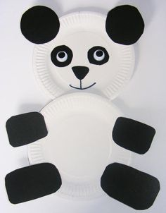 Panda: More easy paper plate crafts