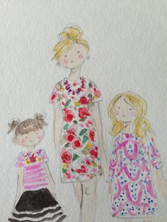 Custom watercolor. Jennifer Vallez.