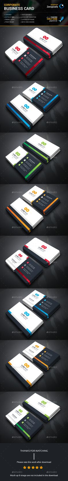 Corporate Business Card Bundle Templates PSD. Download here: http://graphicriver.net/item/corporate-business-card-bundle/16093646?ref=ksioks