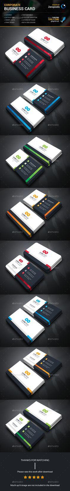 Corporate Business Card Bundle Templates PSD. Download here: http://graphicriver.net/item/corporate-business-card-bundle/16093646?ref=ksioks
