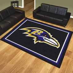 Customize any room in your house or tailgating party and show your team pride with this Baltimore Ravens 8x10 Rug by Fanmats. You will become the envy of any tailgating party when you pull this rug ou
