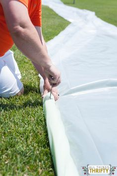 DIY Extra Large Slip N Slide Instructions-10