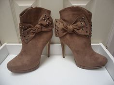Womens Ladies Khaki Faux Suede High Heel Shoes Ankle Boots Size UK 4,5,6,7,8 New  Click On Link To Visit My Ebay Shop http://stores.ebay.co.uk/all-about-feet  Useful Info:  - Standard Size - Standard Fit - By Ideal  - Khaki In Colour - Heel Height: 5 Inches - Platform: 0.3 Inches - Inner Side Zip Fastening - Bow To Outer Side - Black Diamantes - Faux Suede Upper #ankleboots #shoes #khaki #highheel #highheels #platform #fauxsuede #partyboots #bow #diamante #zip #stiletto #fashion #footwear…