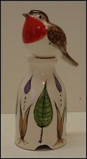 **2 PIECE ROBIN** PIE BIRD/FUNNEL by STUART BASS, ENGLAND ~ excellent!