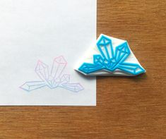 Crystal stamp geode rubber stamp gem eraser by CutsAndScrapes