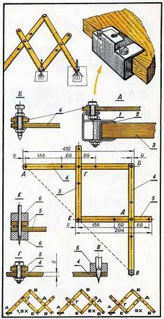 compasso para ampliar imagem,. #WoodworkingTools