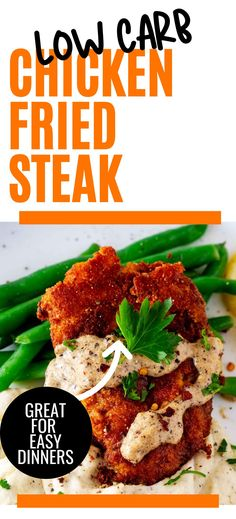 Comfort food without the carbs? Count me in! This Keto Low Carb Chicken Fried Steak with Gravy is every bit as good as the original. Perfectly seasoned crispy steak will keep you coming back for more. Gluten Free Recipes For Breakfast, Easy Healthy Recipes, Lunch Recipes, Easy Dinner Recipes, Beef Recipes, Dinner Ideas, Chicken Fried Steak, Keto Chicken, Count