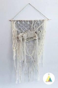 BEACH. Tapestry weaving wall hanging / hand woven par BohoMontreal