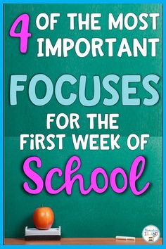 The first week of school can be difficult for beginning teachers.  There are ways to make this time seamless for you.  I have put together a list of the 4 most important focuses for the first week of school, and guess what...you wont see reviewing rules!  Procedures are top priority and other activities to help get your 1st, 2nd, and third graders on board.  These are perfect for any level of teaching. #backtoschool #firstweekofschool