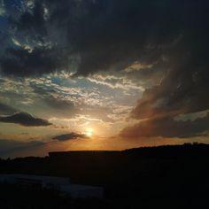 #sunset de hoje.  #sky