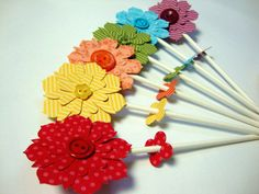 Gorgeous paper flowers from PaperPolaroid @ etsy.com