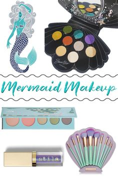 Since we're all mermaid obsessed, I wanted to share the best mermaid makeup and beauty products that I've come across. I've got eyeshadow palettes, alluring lipsticks, unique nail polishes, ethereal highlighters and more!