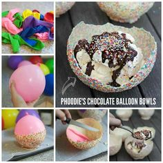 Have you seen these white chocolate bowls recipe all over social media? Well now you can make your own for any occasion using balloons!