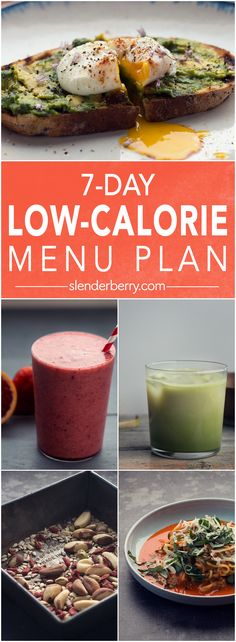 7-Day Low-Calorie Menu Plan to Lose Weight