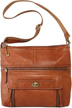 Fossil Handbag, Stanton Leather Top Zip Bag