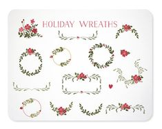 Holiday Laurel Wreaths & Frames for Christmas  by KellyJSorenson, $5.00