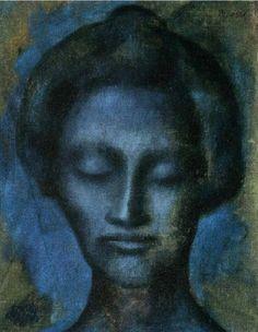 Pablo Picasso – 1903 TИte de femme2 ~Repinned Via Bevy Hart