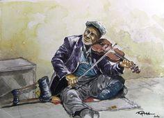 ORHAN GÜLER - Türkish Watercolor Artist Painter - Denizli Sarayköy Art Work Watercolor Artist, Art Work, Musicians, People, Art, Characters, Work Of Art, Art Pieces, People Illustration