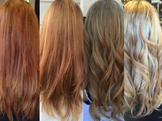 From before during process and finally after. Thank you OLAPLEX from preventing further damage and breakage!