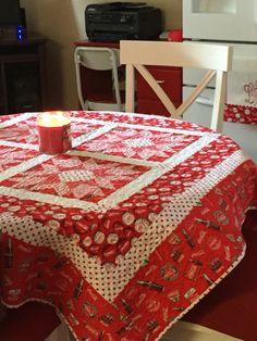 Coca Cola table topper quilt