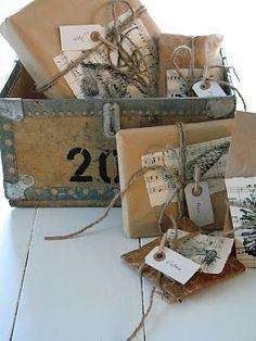 DIY...packaging by stamping on sheet music