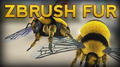ZBrush 2018 Fibermesh Fur Render