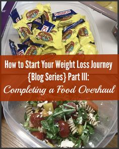 """How to Start Your Weight Loss Journey {Blog Series} Part III Completing a Food Overhaul. My """"Ah Ha"""" weight loss moment came when I did my food overhaul. This step was critical in helping me to pinpoint exactly what I was doing wrong when it came to eating. I was shocked and liberated with what I found out. In this post I go over exactly how to create your own food overhaul. weight loss advice weight loss tips weight loss motivation"""