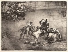 """Picador Caught by a Bull: 'The """"Bulls of Bordeaux'"""